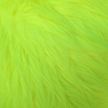 Highlighter Yellow Luxury Long Pile Shaggy Faux Fur Fabric - Fashion Fabrics Los Angeles
