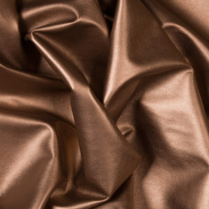Bronze Two Way Stretch Vinyl Fabric - Fashion Fabrics Los Angeles