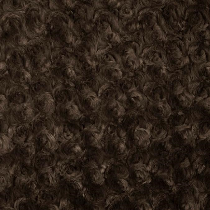 Brown Swirl Rose Bud Fabric - Fashion Fabrics Los Angeles