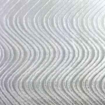 White Swirl Velvet Flocking Fabric - Fashion Fabrics Los Angeles