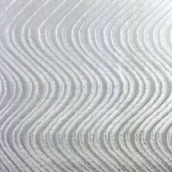 White Swirl Velvet Flocking Fabric