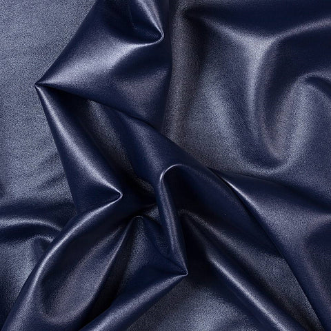 Navy Two Way Stretch Vinyl Fabric - Fashion Fabrics Los Angeles