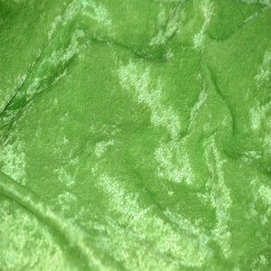 Lime Green Panne Crush Stretch Velvet Fabric