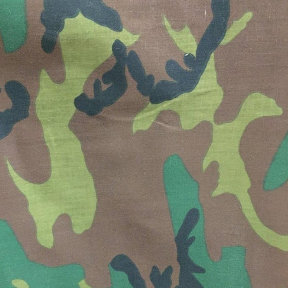 Dark Dye Camouflage Army Poly Cotton Fabric - Fashion Fabrics Los Angeles