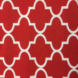Red White Moroccan Print Indoor Outdoor Fabric - Fashion Fabrics Los Angeles