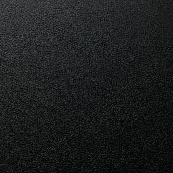 Black Cannon PVC Faux Leather Vinyl Suede Backing Fabric - Fashion Fabrics Los Angeles