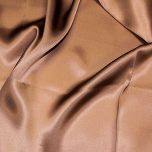 Brown Silk Charmeuse Fabric - Fashion Fabrics Los Angeles