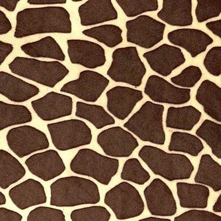 Brown Giraffe Print Fleece Fabric - Fashion Fabrics Los Angeles