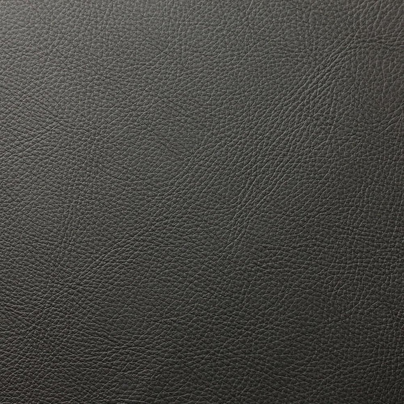 Charcoal Gray Doheny PVC Faux Leather Vinyl Suede Backing Fabric - Fashion Fabrics Los Angeles