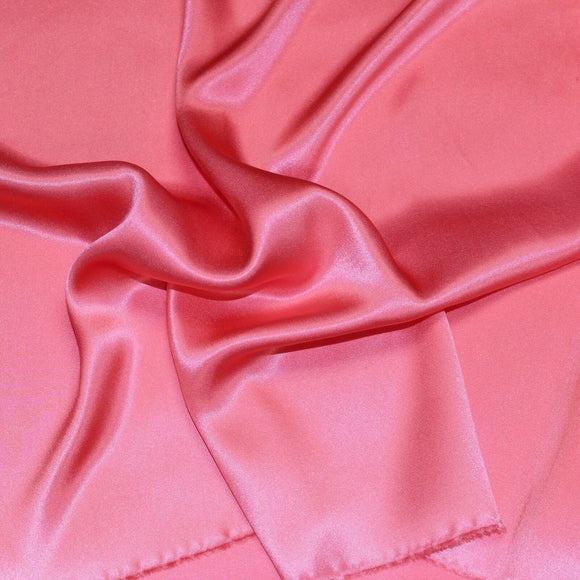 Coral Pink Silk Charmeuse Fabric - Fashion Fabrics Los Angeles