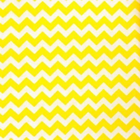 Yellow White Half Inch Chevron Poly Cotton Fabric - Fashion Fabrics Los Angeles