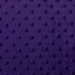 Dark Purple Minky Dimple Dot Fabric - Fashion Fabrics Los Angeles