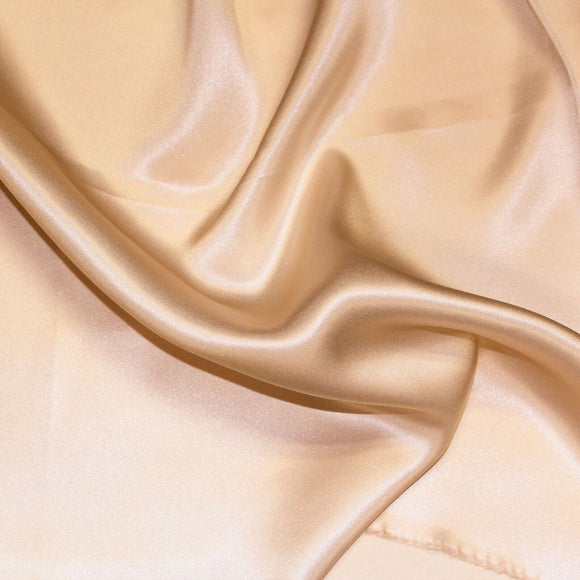 Dark Taupe Silk Charmeuse Fabric - Fashion Fabrics Los Angeles