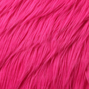 Hot Pink Luxury Long Pile Shaggy Faux Fur Fabric - Fashion Fabrics Los Angeles