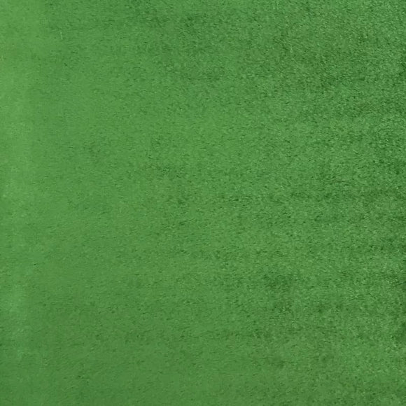 Green Smooth Minky Faux Fur Fabric