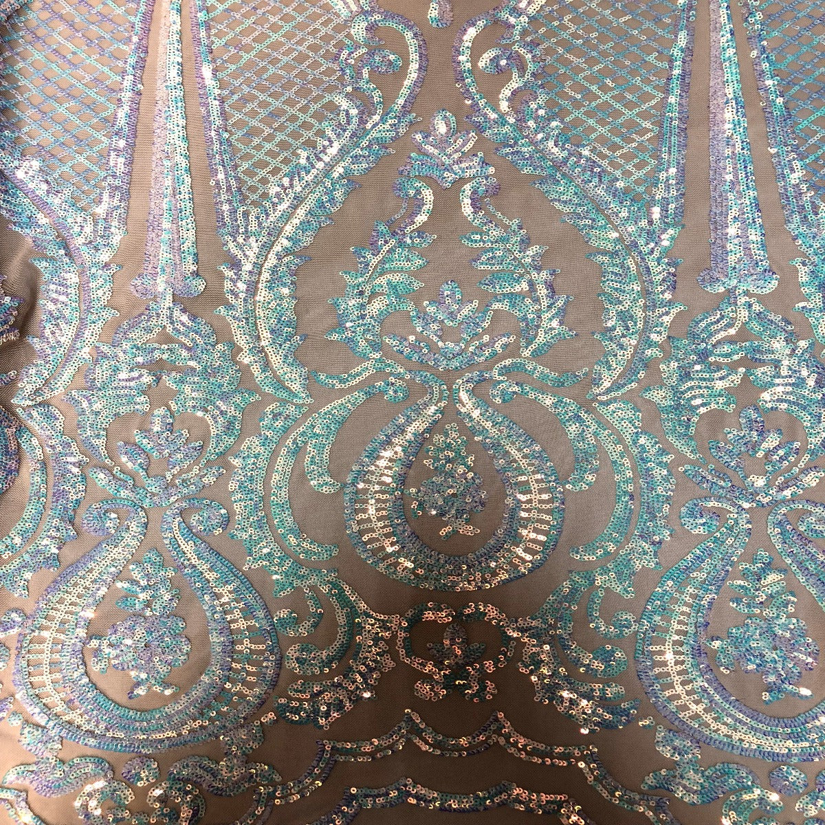 23afc87b Pearl White Iridescent Chantal Deluxe Sequin Fabric - Fashion Fabrics Los  Angeles ...
