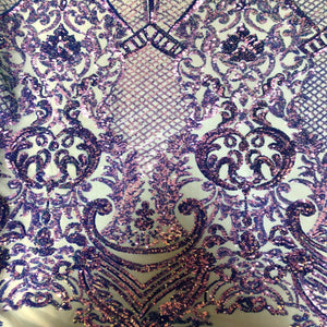 Lavender Iridescent Chantal Deluxe Sequin Fabric - Fashion Fabrics Los Angeles