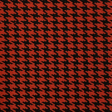 Red Black Acrylic Houndstooth Fabric - Fashion Fabrics Los Angeles