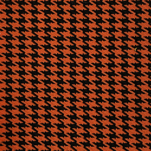 Orange Black Acrylic Houndstooth Fabric - Fashion Fabrics Los Angeles