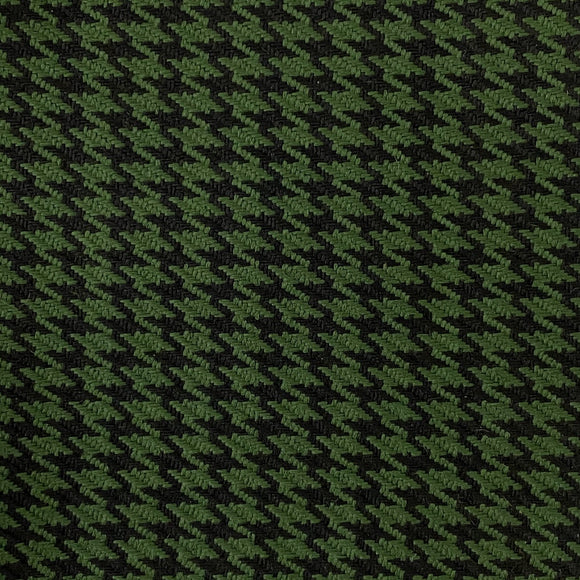Green Black Acrylic Houndstooth Fabric - Fashion Fabrics Los Angeles