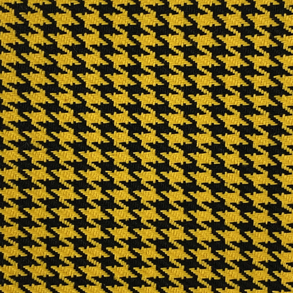 Yellow Black Acrylic Houndstooth Fabric - Fashion Fabrics Los Angeles