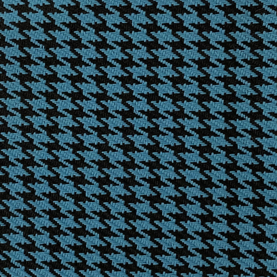 Blue Black Acrylic Houndstooth Fabric - Fashion Fabrics Los Angeles