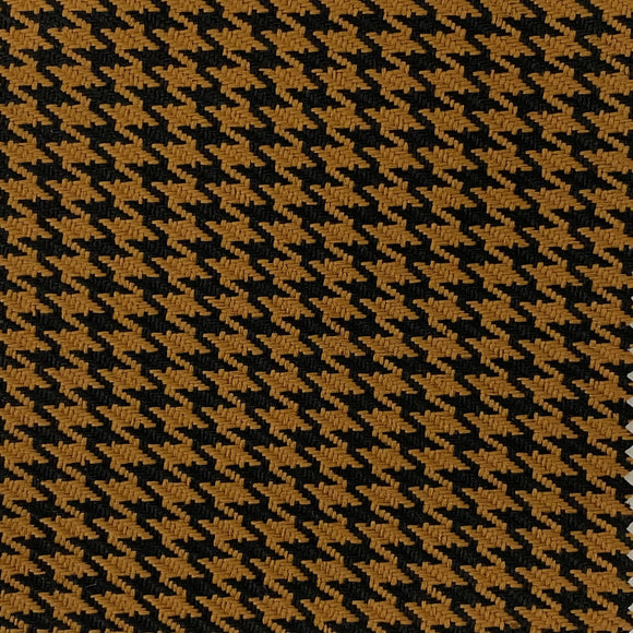 Gold Black Acrylic Houndstooth Fabric - Fashion Fabrics Los Angeles