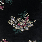 Black Gold Floral Flocking Velvet Drapery Upholstery Fabric - Fashion Fabrics Los Angeles