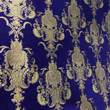 Black Gold Jacquard Flocking Velvet Drapery Upholstery Fabric - Fashion Fabrics Los Angeles