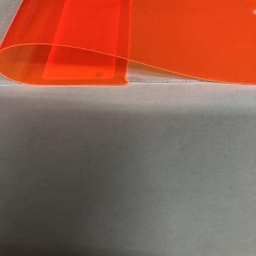 Orange Marine PVC Tinted Plastic Vinyl Fabric - Fashion Fabrics Los Angeles