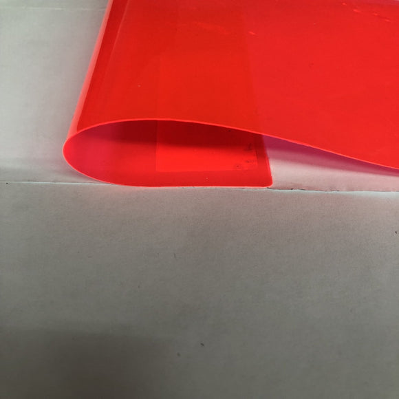 Coral Red Marine PVC Tinted Plastic Vinyl Fabric - Fashion Fabrics Los Angeles