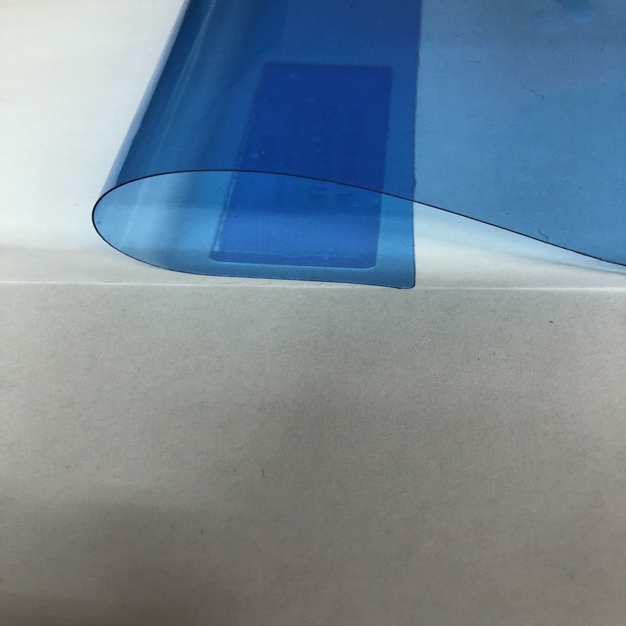 Sky Blue Marine PVC Tinted Plastic Vinyl Fabric - Fashion Fabrics Los Angeles