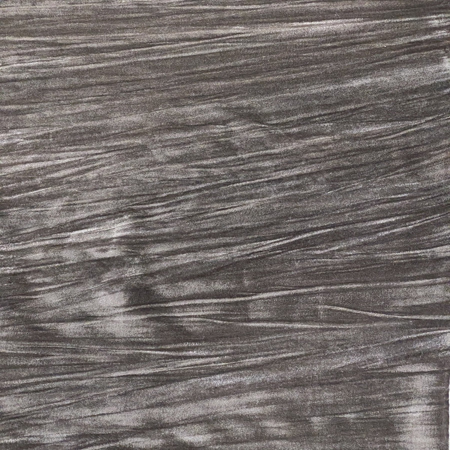Gray Crinkle Stretch Velvet Fabric - Fashion Fabrics Los Angeles
