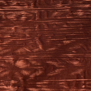 Rust Orange Crinkle Stretch Velvet Fabric - Fashion Fabrics Los Angeles