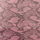 Pink Piuma Snakeskin Vinyl Fabric - Fashion Fabrics Los Angeles
