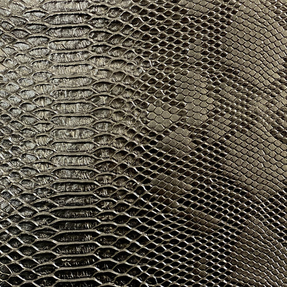 Black Faux Viper Sopythana Snake Skin Vinyl - Fashion Fabrics Los Angeles