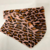 Pink Minky Leopard Faux Fur Fabric - Fashion Fabrics Los Angeles