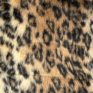 Mocha Brown Leopard Print Faux Fur Fabric - Fashion Fabrics Los Angeles
