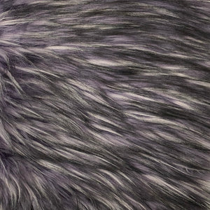 Purple Multicolor Husky Print Shaggy Faux Fur Fabric - Fashion Fabrics Los Angeles