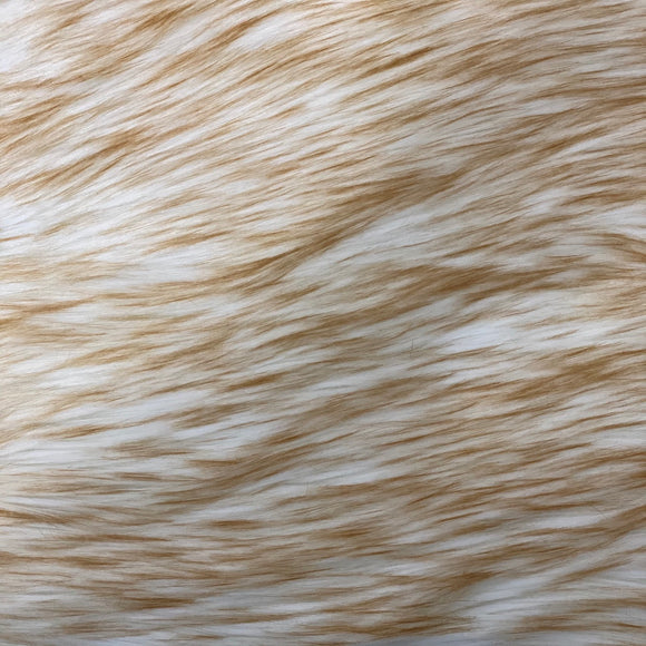 Beige Frost Tipped Husky Faux Fur Fabric - Fashion Fabrics Los Angeles