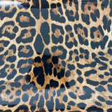 Gold Patent Leather Leopard Print Vinyl Fabric - Fashion Fabrics Los Angeles