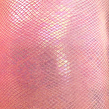 Pink Venom Snake Skin Stretch Velvet Iridescent Spandex Fabric - Fashion Fabrics Los Angeles