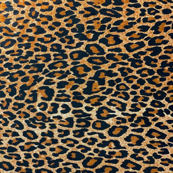Baby Leopard Print Stretch Velvet Fabric - Fashion Fabrics Los Angeles