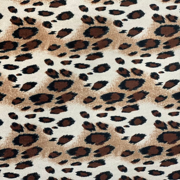 Wild Cheetah Print Stretch Velvet Fabric - Fashion Fabrics Los Angeles