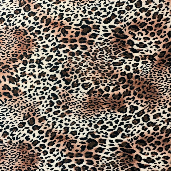 African Cheetah Print Stretch Velvet Fabric - Fashion Fabrics Los Angeles