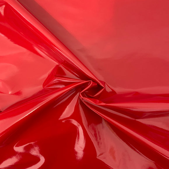 Red Faux Patent Leather Apparel Vinyl Fabric - Fashion Fabrics LLC
