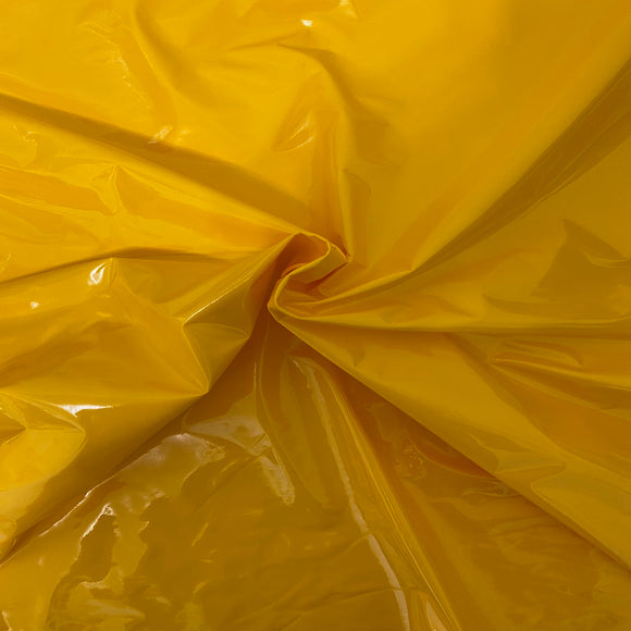 Yellow Faux Patent Leather Apparel Vinyl Fabric - Fashion Fabrics LLC