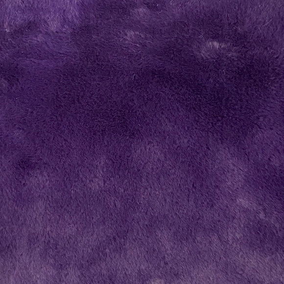 Eggplant Purple Rabbit Soft Cuddle Faux Fur Fabric