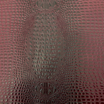 Dark Wine Red Aussie 3D Embossed Gator Vinyl Fabric - Fashion Fabrics LLC