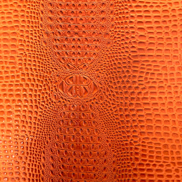 Orange Aussie 3D Embossed Gator Vinyl Fabric - Fashion Fabrics LLC